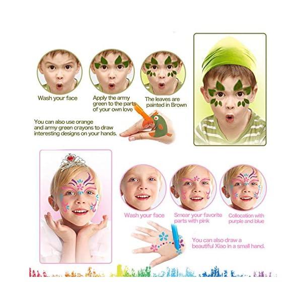 Face Painting Trucchi per Feste Bambini,Buluri 12 Pennarelli per Colorare La Faccia Body Paint Kit Trucchi per Bambini… 5 spesavip