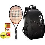 [Sponsored]Wilson All Tennis Kit (Match Point Tennis Racquet For Adults + Championship Tennis Ball, Pack Of 3 + Team Tennis Racquet Bag)