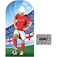 BundleZ-4-FanZ by Starstills Fan Pack - World Cup Football 2018 England Stand-In Lifesize Adult Cardboard Cutout with 20cm x 25cm Star Photo