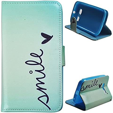 Voguecase® Funda Carcasa Cuero Tapa Case Cover Para Alcatel One Touch Pop C5(mile)+ Gratis aguja de la pantalla stylus universales