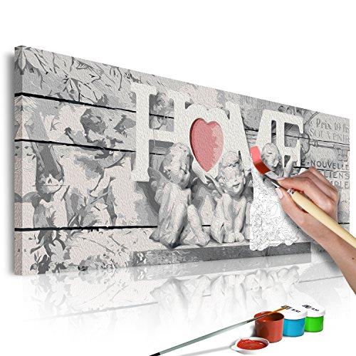 Zahlen Home & Engel 120x40cm Malset DIY n-A-0570-d-a ()