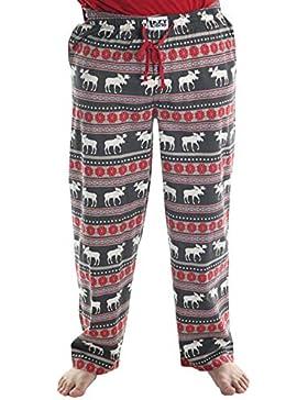 LazyOne Unisexo Moose Fair Isle Pijama Pantalones Adulto