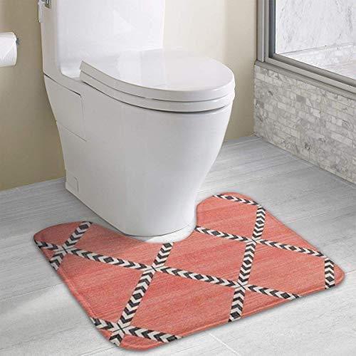 Hoklcvd Personalized Toilet Carpet-Geometric-Shapes WC U-Form MatCartoon Weiche Matte Dusche Boden Teppich Badezimmer (70er-jahre-look Kids Für)