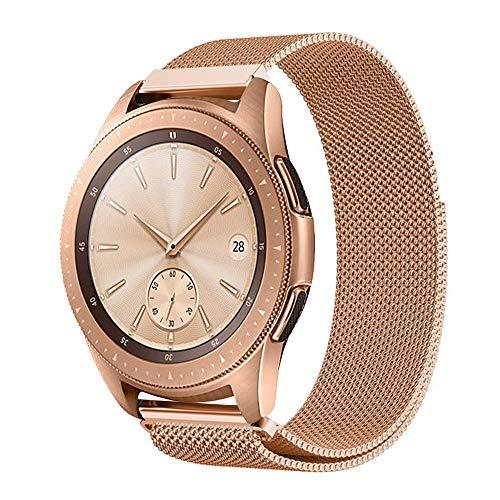 ProCase Bracelet de Remplacement pour Samsung Galaxy Watch Active (40mm), Galaxy Watch (42mm), Gear Sport, Gear S2 Classic, Bracelet en Acier Inoxydable avec Aimant pour Smartphone-Or Rose, Grand
