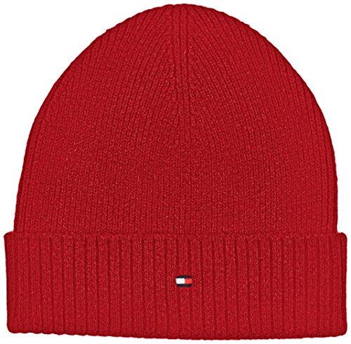 tommy-hilfiger-herren-strickmutze-pima-ctn-cashmere-beanie-rot-apple-red-heather-626-one-size