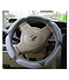 #9: NIKAVI Steering Wheel Cover - Odorless, Warmer Hands In Winter, Cooler Hands In Summer (GREY)