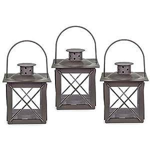 ein set mit 3 kleinen laternen oder gruben lampen. Black Bedroom Furniture Sets. Home Design Ideas