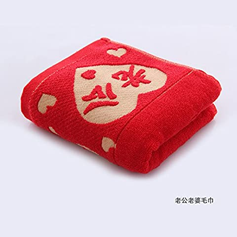 Saejj-cotton Serviette Serviette Mariage Mariage Célébration Rouge Serviette Serviette Serviette Dos Rouge 34* 74