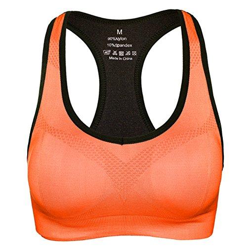 Daojian Femmes Sport Fitness Yoga Bra Orange