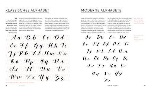 Handlettering Alphabete: Schritt für Schritt zur eigenen Schönschrift – 2 Maxi Poster mit allen Schrift-Vorlagen zum Abpausen - 3