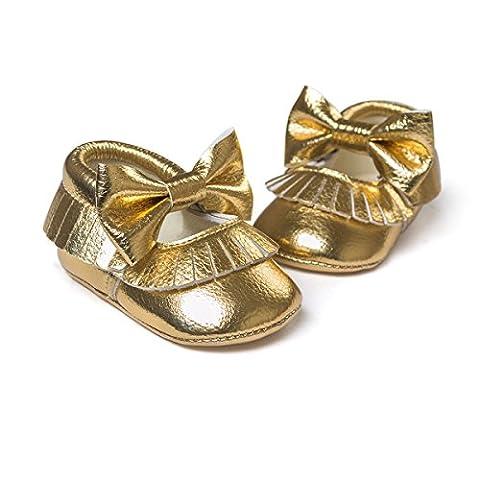 Royal Victory , Chaussures premiers pas pour bébé (fille) - or - doré,