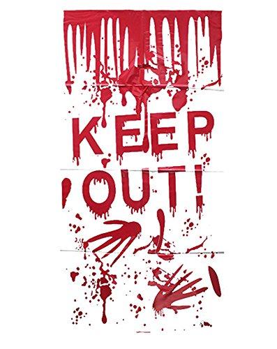 Elaine Raum Fenster Aufkleber Wand Decor Halloween Zombie Vampir-Thema Party Kostüm 53,3cm von 119,4cm (55cm von 120cm) a