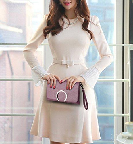 LAIDAYE Handtaschen-Damen-Tasche Kuriertasche Schultertasche Red