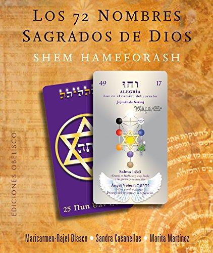 Los 72 Nombres Sagrados de Dios. (Libro + 73 Cartas) (CARTOMANCIA) por M Rajel Blasco