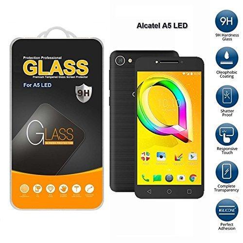 Alcatel A5 LED Hartglas Displayschutzfolie (nur für Dies Telefon)
