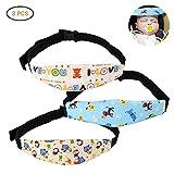 Kinder Kopfstütze Surenhap 3 Pcs Einstellbare Kindersitz Kopf Halter Schlafpositionierer für die meisten Babysitze, Autositze, Kinderwagen (3pcs)