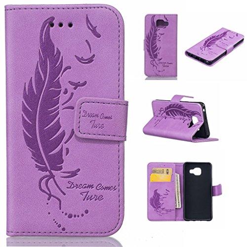Uming® Il modello della stampa della custodia per armi variopinta della copertura Holster Cover Case ( Dual Pressure feather birds ( Rose 2) - per IPhone 5S 5 5G SE IPhone5S IPhoneSE ) Flip-artificial Dual Pressure feather birds ( purple)
