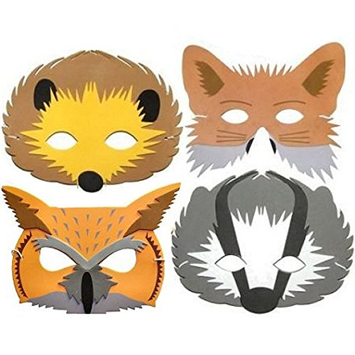 Schaumstoff-Tier-Masken für Kinder, Tiere des Waldes, (Masken Für Tier Kinder)