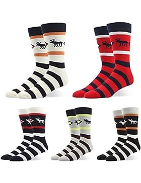 RioRiva Herren Business Socken Berufssocken Arbeitssocken Anzugsocken kariert bunt für Männer ohne gummi