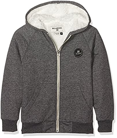 Billabong All Day Sherpa Sweat à capuche fermeture éclair Homme Dark Grey Heather FR : L (Taille Fabricant : L)