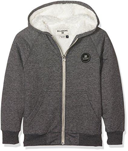 Billabong All Day Sherpa-Felpa con cappuccio e cerniera, da uomo, colore: grigio scuro, taglia: M (taglia del produttore: M)