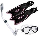 Cressi Palau Máscara Snorkel conjunto aleta larga enfoque White Lilac Talla:S/M