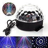 JUDYelc Crystal Ball Disco Mechanische Bühnenlampe mit Fernbedienung Sound Aktivierte