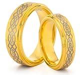 Best tungsteno juegos de anillos de boda joyería - Diseño de símbolo masculino y her es 8 Review