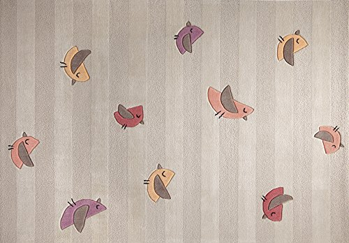 Preisvergleich Produktbild Handgetufter TeppichBirdie in Beige Teppichgröße: 90 x 160 cm
