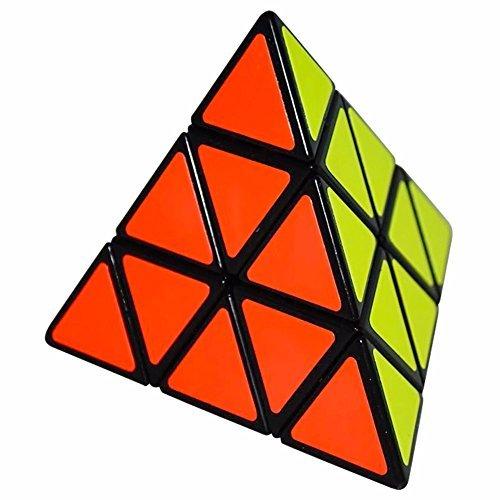 Coolzon® Dreieck-Pyramide Pyraminx Puzzle Magic Cube Spielzeug 98mm, Schwarz