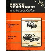 REVUE TECHNIQUE AUTOMOBILE N°385 AUTOBIANCHI A112 GOLF DIESEL JANV 1979
