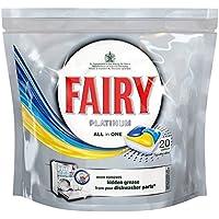 Preisvergleich für Fairy Platinum All in One Geschirrspüler Tabletten Lemon (20) - Packung mit 2
