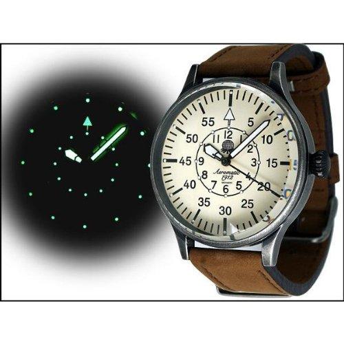 Aeromatic 1912 A1152N Aeromatic A1152N - Reloj , correa de cuero color marrón
