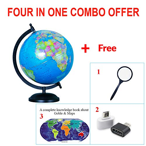 Fortunesales Globe|Globes Laminated 8 inch for Students|Kids| Office Table| Home Decor