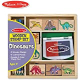 Melissa & Doug Wooden Stamp Set: Dinosaurs