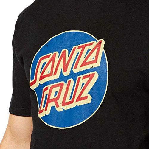 Santa Cruz Vintage Dot T-shirt noir