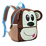 TEAMEN Kinderrucksack Animal Schule Tasche Rucksack for Kinder Baby Jungen Mädchen Kleinkind 2-6 Alter (Affe)
