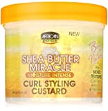 African Pride Shea Butter Miracle Curl Styling Custard 340 g/12 oz