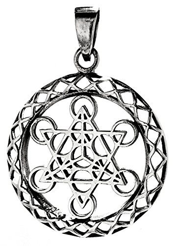 Metatron Cube ciondolo in argento Sterling 925 N. 202