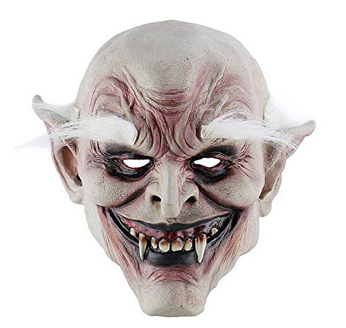 Gruselig Für Ideen Gute Kostüm - JIAENY Halloween Maske Masken Kostüm Erwachsene Horn Masken Weißbrauner Alter Dämon Halloween Horror Teufel Maske Vampire Haunted House Evil Killer