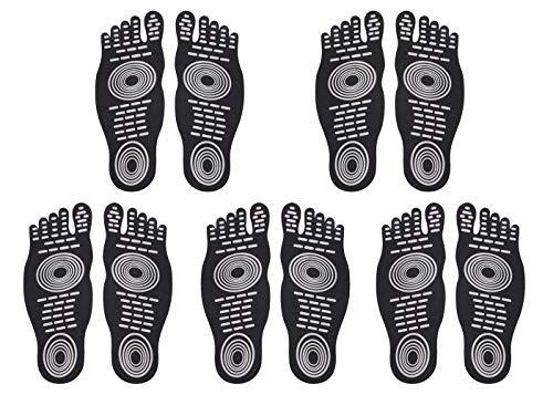 DD Barefoot Socken für Bewegung Beach Pool Füße, Wasser Schuh, Anti-Rutsch Yoga Socken, Aufkleber Selbstklebend Fuß für Männer Frauen, Elastic Flexible Füße Schutz -