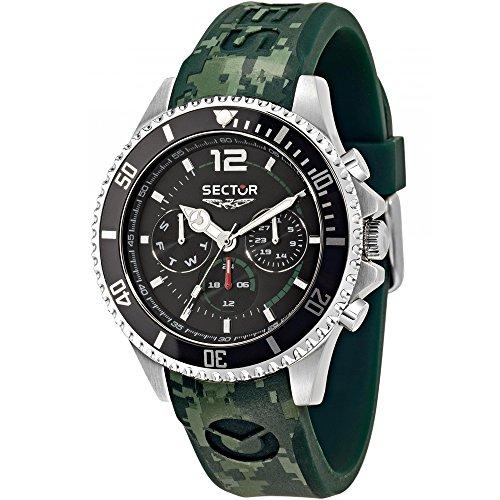 Sektor Watch 43 mm 230 grün Multifunktions Marine R3251161024