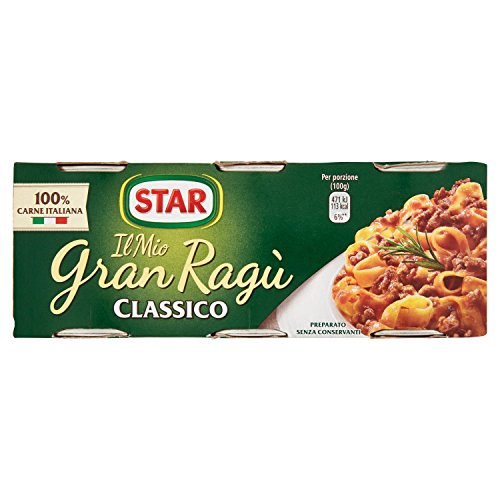 Star gran ragú classico, preparato secondo - 3 lattine