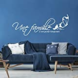 SJXWOL Wandaufkleber Vinyl Aufkleber UNE Famille C'est