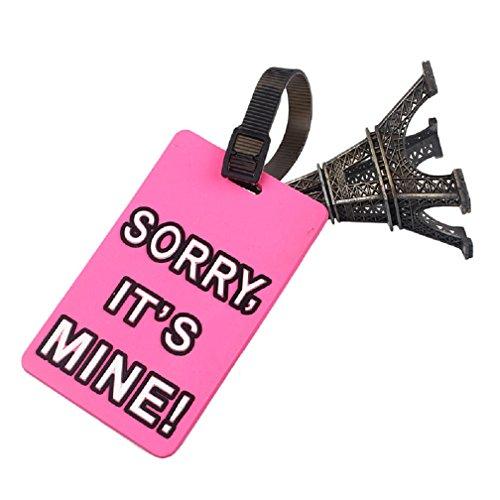 Malloom® Bagaglio Valigia Tag ID Titolare Indirizzo Etichetta Identificatore Silicone Per Il Bagaglio Cartellino Per Borsa Valigia (rosa caldo)