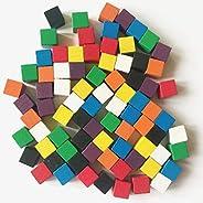 Spielsteine aus Holz für Brettspiele, Quader 10x10x10 mm, 8 Farben (8 x 10)