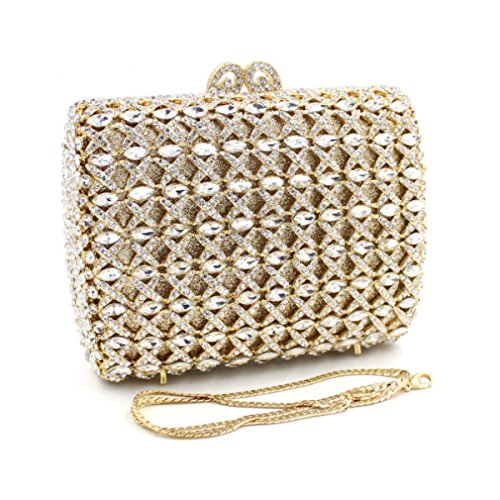 Pochette High-end Borsa Da Sera Di Lusso Del Diamante Delle Donne Gold