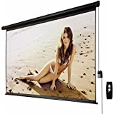 GOOD LIFE 100 Inch 16:9 Projector Screen Electric Control Home Theater Office HD Video Movie TV Projection Screen Motorized Auto With Remote Black Case ELC351