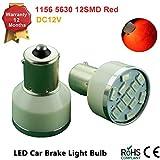 115611575630LED 12SMD BA15S S25LED Leuchtmittel Licht Innen Blinker Backup Reverse Lampen DC 12V (Paket von 2)–Bright Weiß, Rot, Gelb