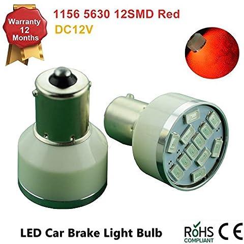115611575630LED 12SMD BA15S S25ampoules LED Éclairage intérieur Tour Signal sauvegarde inversée lumières DC 12V (Package of 2)–Blanc brillant, Rouge, Jaune